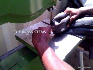 Cut stems & cut tubes in half