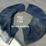 Tube cut in half