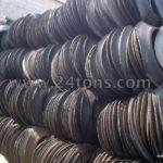 Cut tire rings, sidewalls