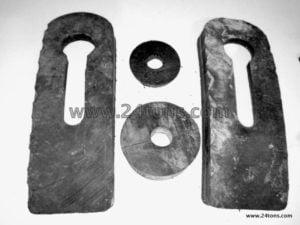 rubber disc keyhole fishing chain bag