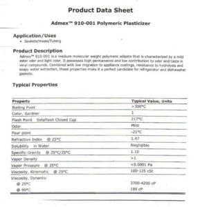 low cost plasticizer TDS
